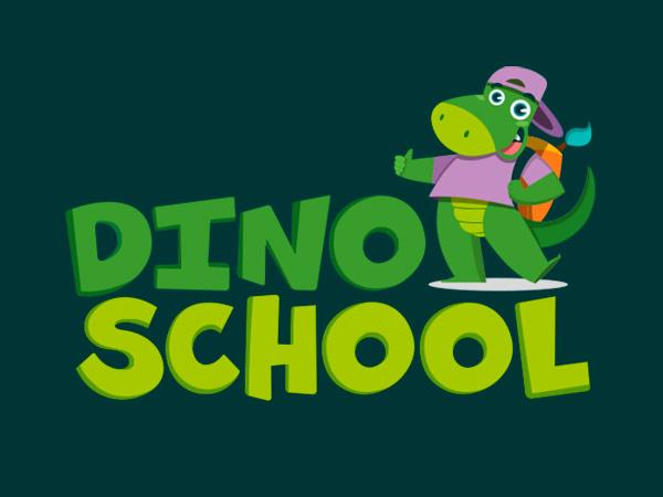 Diseño de logotipo y branding de Dino School