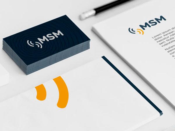 Diseño de logotipo y branding de MSM