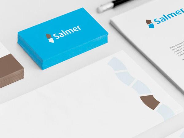 Diseño de logotipo y branding de Salmer