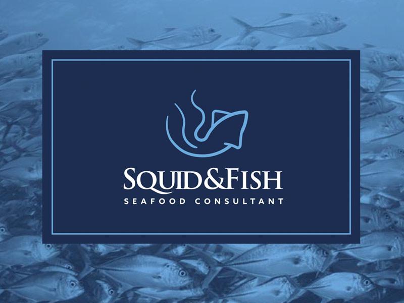 Diseño de logotipo y branding de Squid&Fish