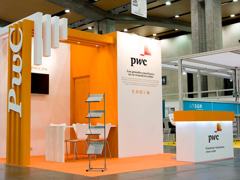 Diseño y montaje de stands · PWC